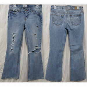 Aeropostale jeans 3/4S Hailey flare distressed